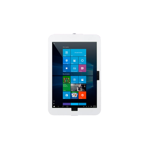 kiosks - Elevate II On-Wall Mount Kiosk for Surface Pro 6 | 5 | 4 | 3 (White) - The Joy Factory