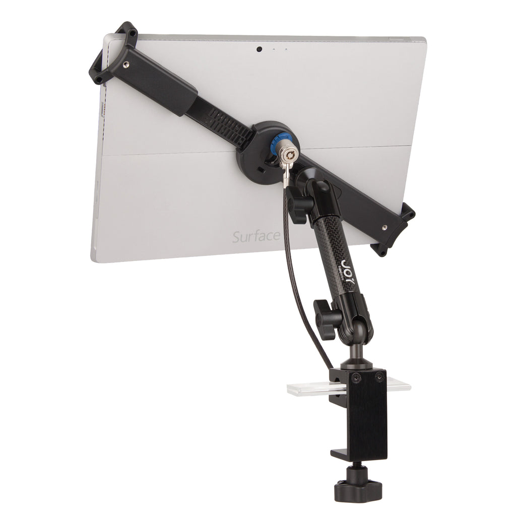 "mount-bundles - LockDown Universal C-Clamp Mount w/ Key Lock for 10"" - 13"" Tablets - The Joy Factory"