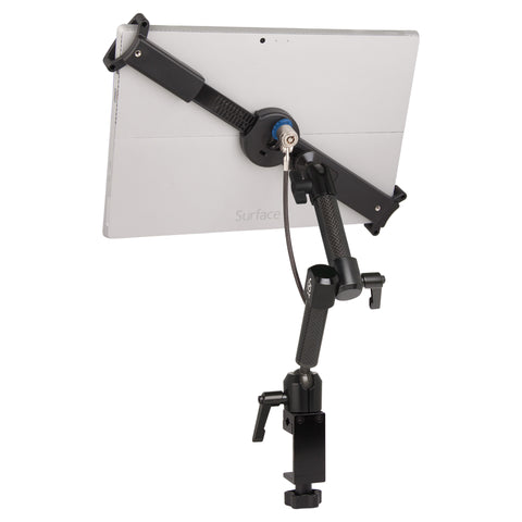 "mount-bundles - LockDown Universal C-Clamp Dual Arm Mount with Key Cable Lock for 10"" - 13"" Tablets - The Joy Factory"