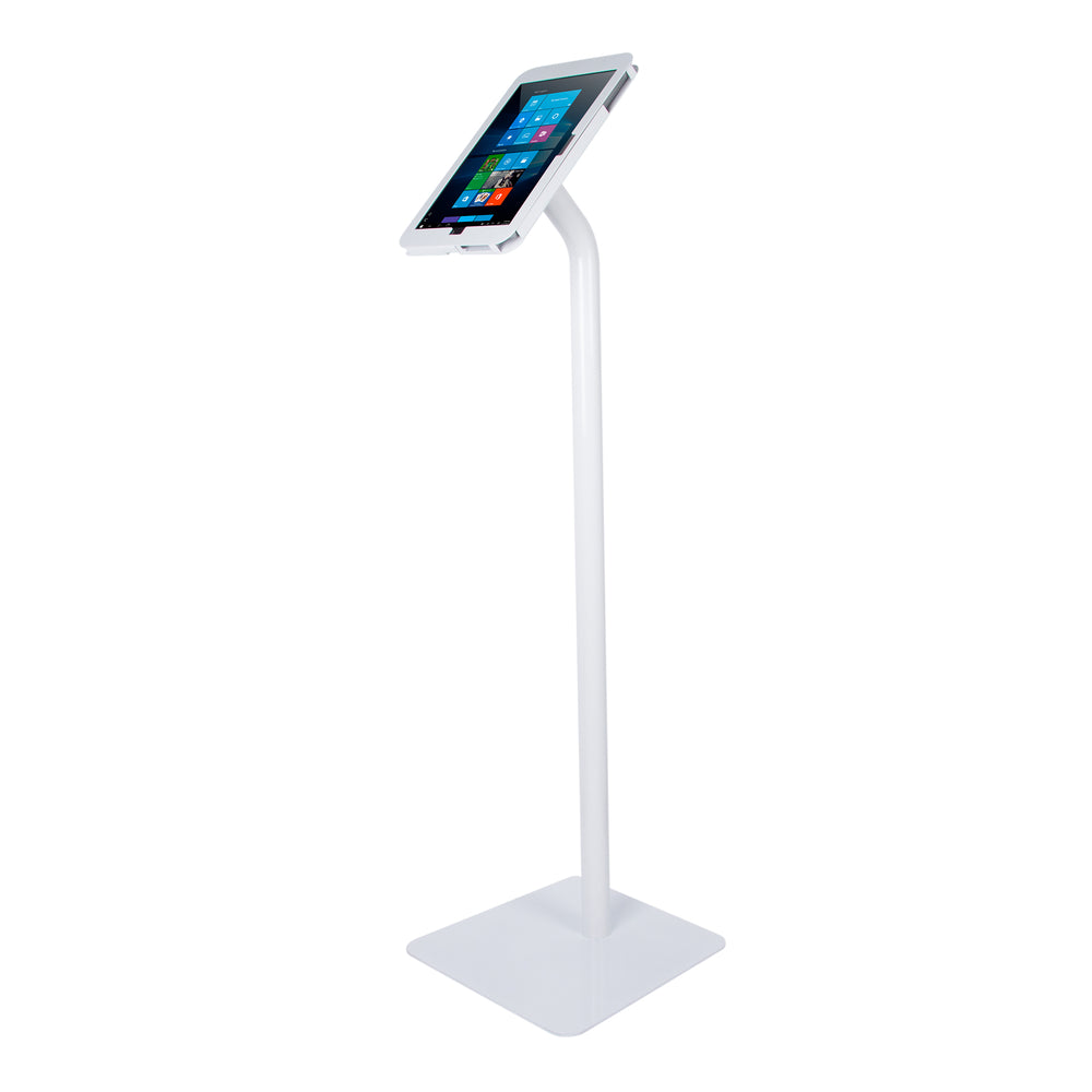 kiosks - Elevate II Floor Stand Kiosk for Surface Pro 7 | 6 | 5 | 4 (White) - The Joy Factory