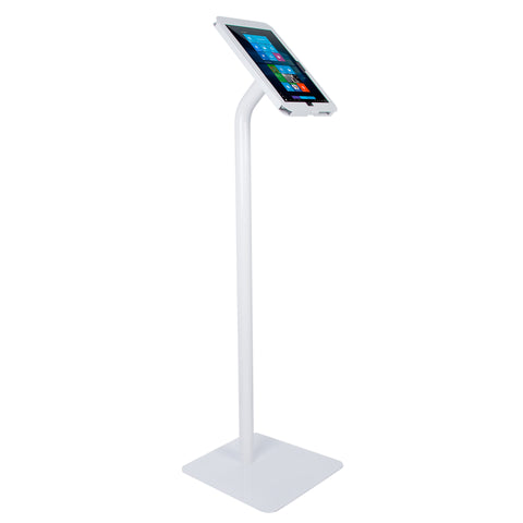 kiosks - Elevate II Floor Stand Kiosk with Secure Enclosure for Surface Pro | Pro 4 | Pro 3 (White) - The Joy Factory