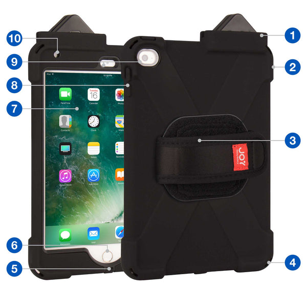 cases - aXtion Bold M with Universal Hand Strap for iPad mini 4 with PayPal Here Card Reader Support - The Joy Factory