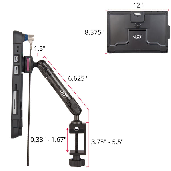 - MagConnect C-Clamp Mount with LockDown for Surface Pro 6 | 5 | 4 (Cable Lock Included) - The Joy Factory