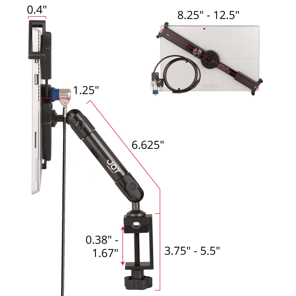 mount-bundles - LockDown Universal C-Clamp Mount w/ Key Lock for 10