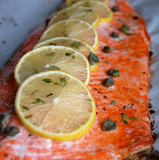 Paleo Baked Salmon with Lemon & Thyme