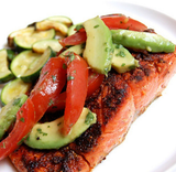 Paleo Blackened Salmon with Salsa
