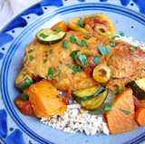 Paleo Chicken Tagine with Olives & Sweet Potatoes
