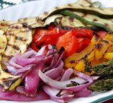 Paleo Grilled Veggie Salad with Lime Sauce