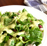 Paleo Taco Salad with Creamy Avocado Dressing