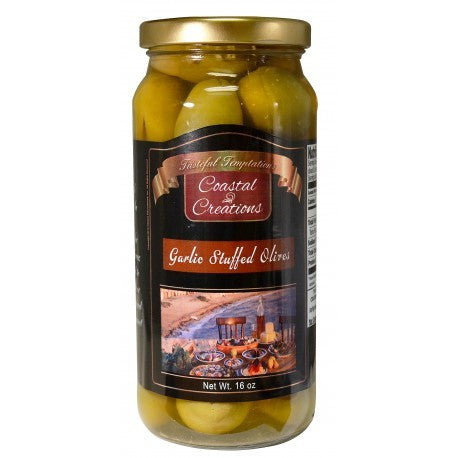 Garlic Stuffed Olives (16 oz)