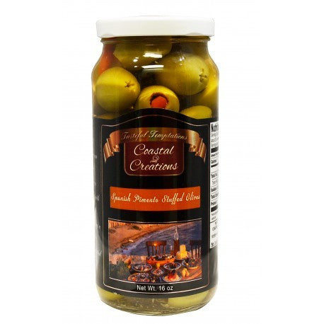 Spanish Pimento Stuffed Olives (16 oz)