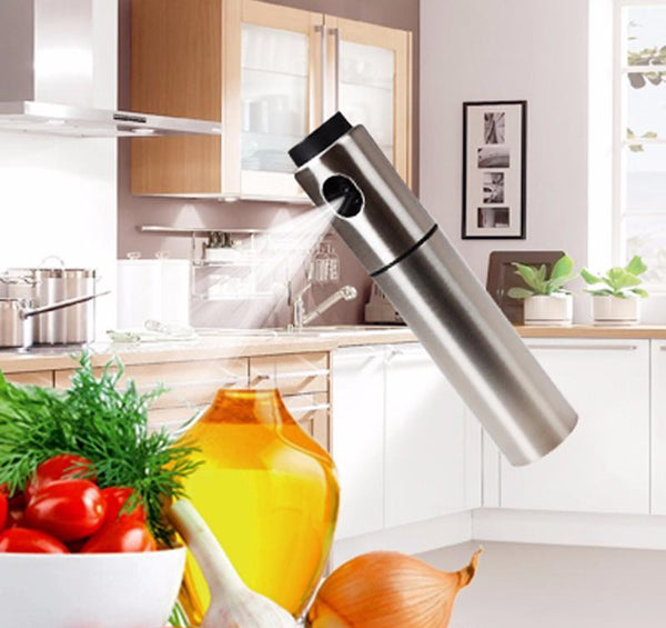 Olive Oil Sprayer - Stainless Steel Olive Pump Can Spray