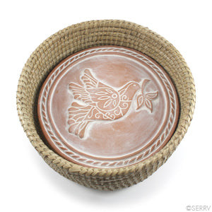 Bread Warmer in Natural Baskets (all designs) - Peace Dove, Tree of Life and Falling Leaves