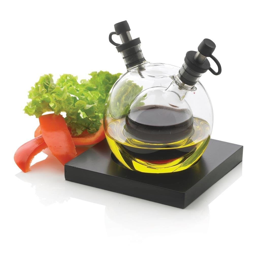 Orbit Oil & Vinegar Glass Cruet Set