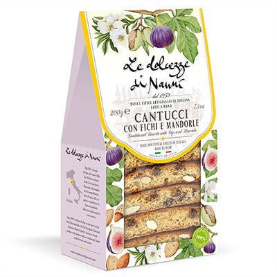 Almonds & Figs Cantucci (Biscotti) in Gift Box, 7.05 oz (200 gr)