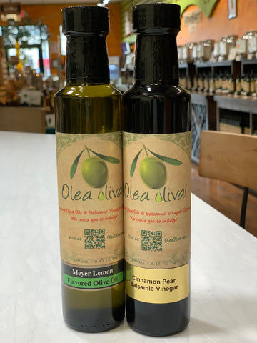 Fall Special Combination - Meyer Lemon Olive Oil and Cinnamon Pear Balsamic