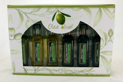 Gift Box - 6 x 60 ml (2.02 fl. oz) samplers of Olive Oils and/or Balsamic Vinegars