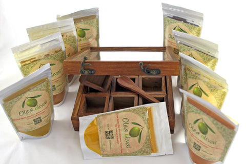 Option J ($99.90) : Large Spice box plus 9 spices/blends of your choice