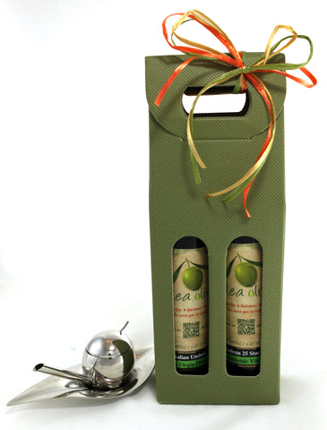 Option K ($130.00) : 2 x 250 ml EV Olive Oil and Balsamic Pairing & Taste-Huile Olive Oil Taster