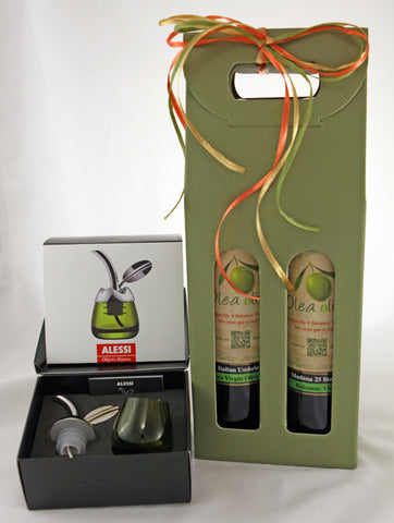 Option L ($162.00) : 2 x 500 ml EV Olive Oil and Balsamic Pairing & Olive Oil Taster with pourer