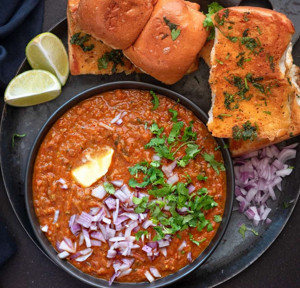 10/22/2020  - Pav Bhaji - Street style spiced veggies with dinner rolls