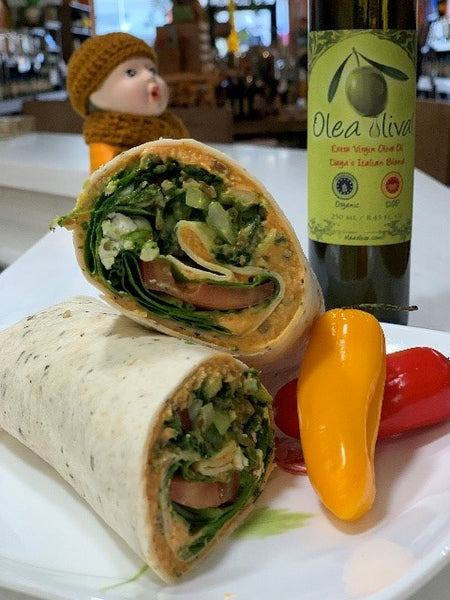 11/05/2020 - Ayurvedic Balanced Sprouted Mung Bean Burger Wrap