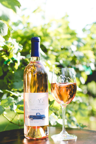 Blue Truck Sweet Merlot Blush, Kaya Vineyard and Winery, Dahlonega, GA (IN-STORE WINE PICKUP with ID)