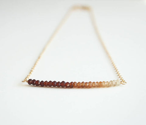 Brown Ombre Necklace