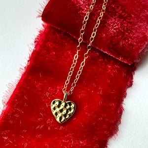 Dimpled Heart Pendant