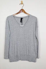 Bobi Rib Mix L/S V-Neck Top