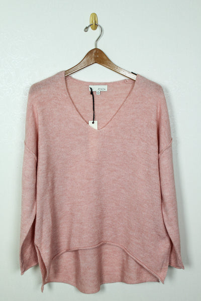 Pinch Soft V Neck Knit Sweater