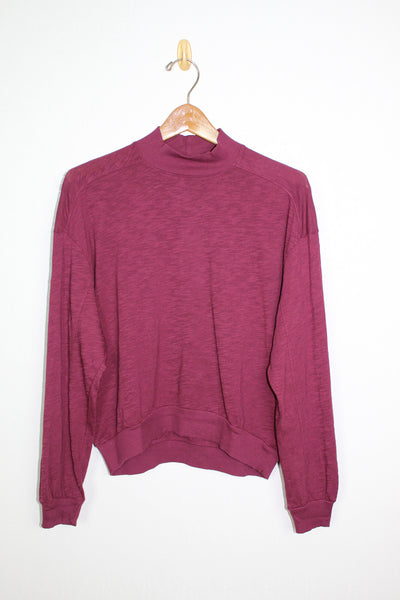 Bobi Rib Mix Turtle Neck Top