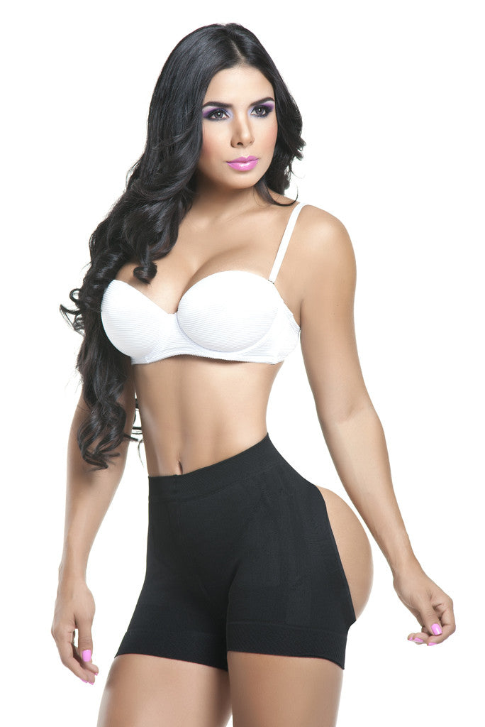 18e4dd882d Black Short Open Butt Lifter - Fajastec Colombian Shapewear