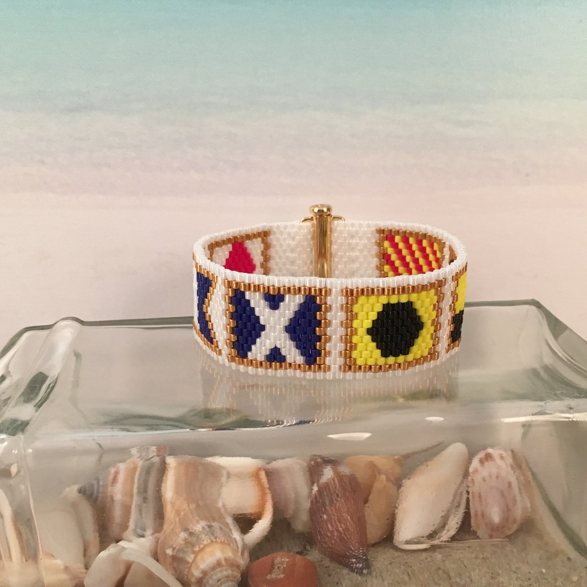 Nautical Alphabet Flag Bracelet FAMILY