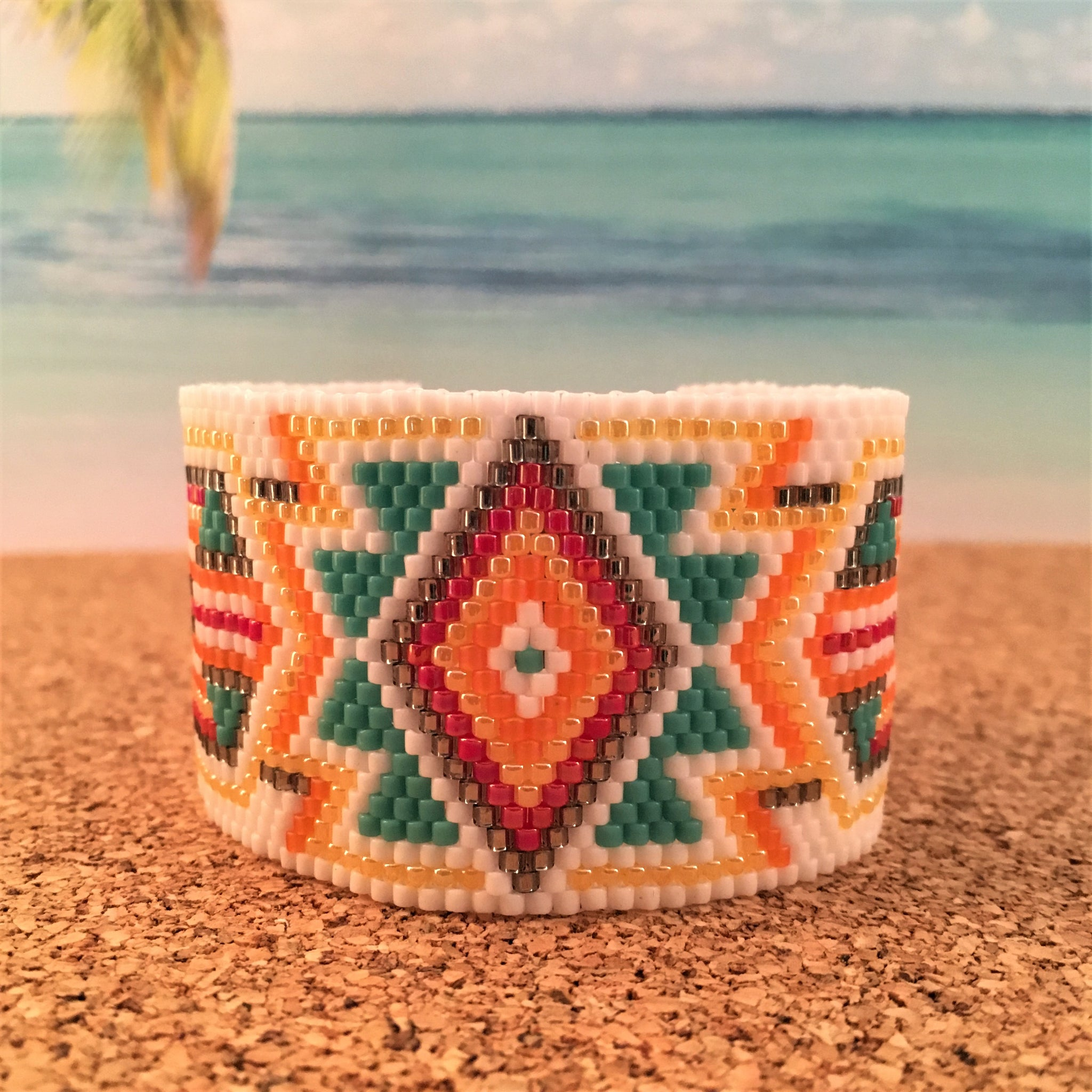 Southwest Style in Orange Turquoise Yellow and Red
