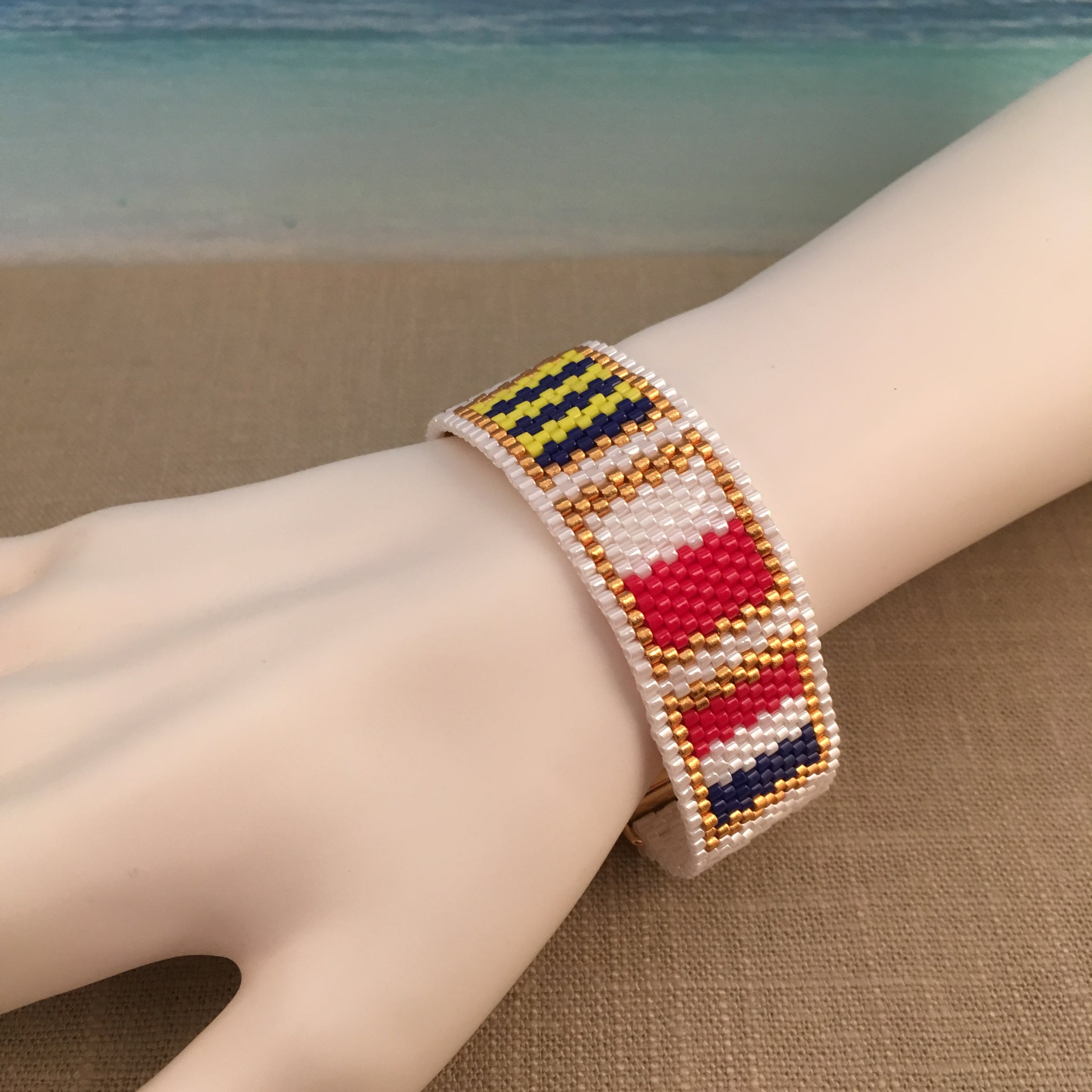 Nautical Alphabet Flag FIGHT Awareness Bracelet