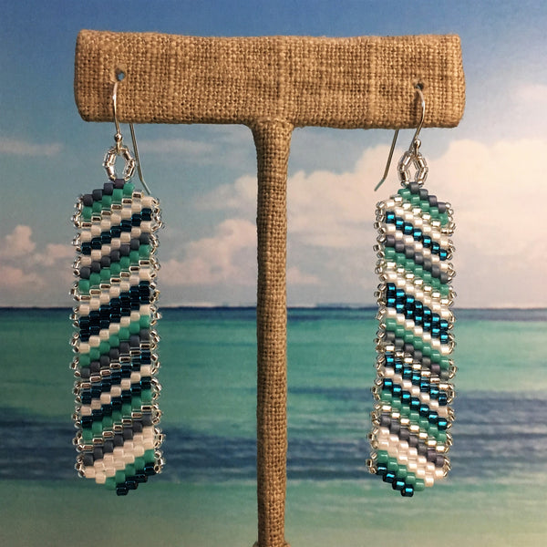 Caribbean Blues and Turquoise Earrings