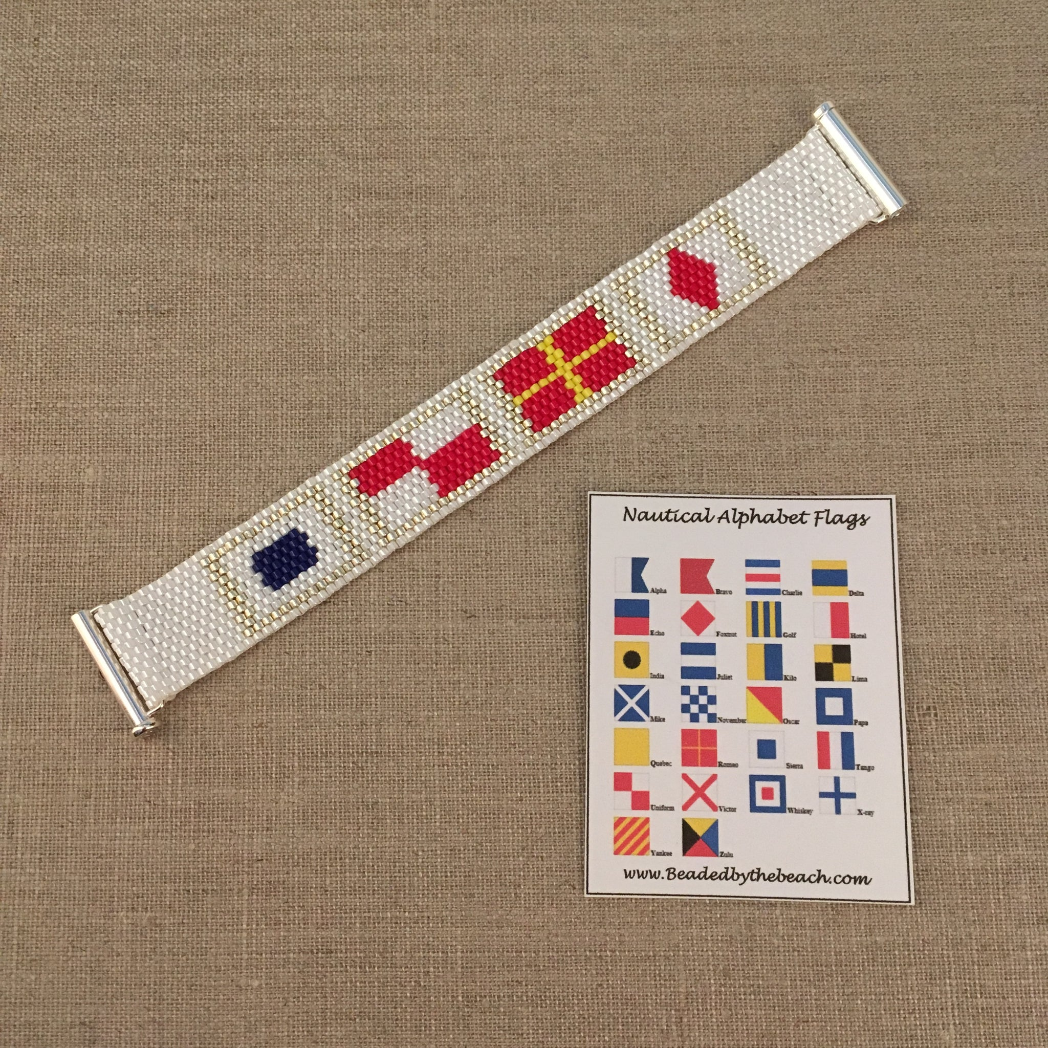 Nautical Alphabet Flag Bracelet SURF