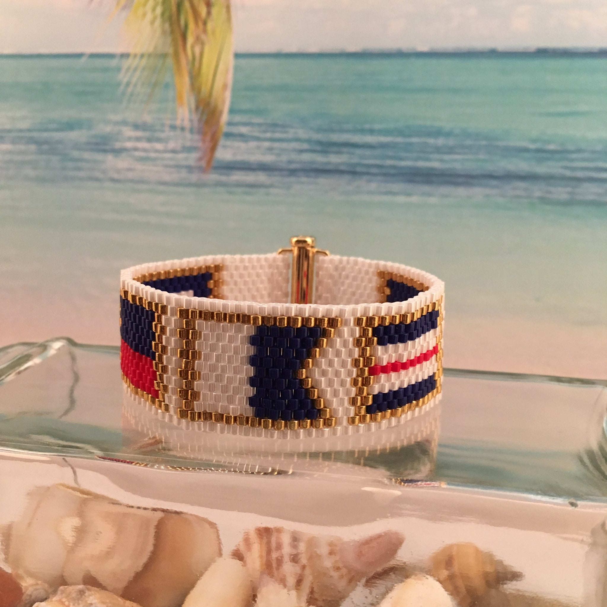 Nautical Alphabet Flag Bracelet PEACE
