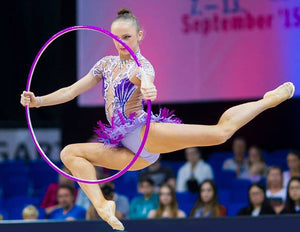 PRIMA HOOP wrapped with tape, World Championships Edition 2015, Purple-White Hoop, Style: GS398