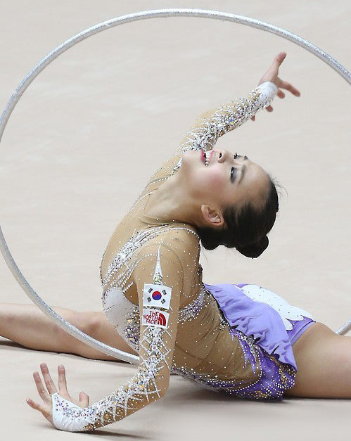 PRIMA HOOP wrapped with tape, World Championships Edition 2015, Glitter Silver Hoop, Style: GS397