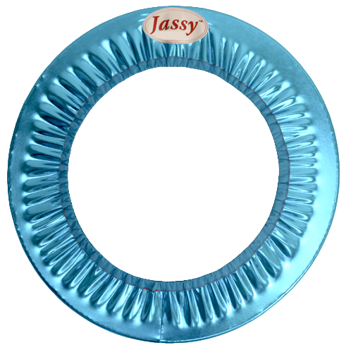 Hoop Cover by Jassy, Metallic Turquoise, Style: TRQ-HC04