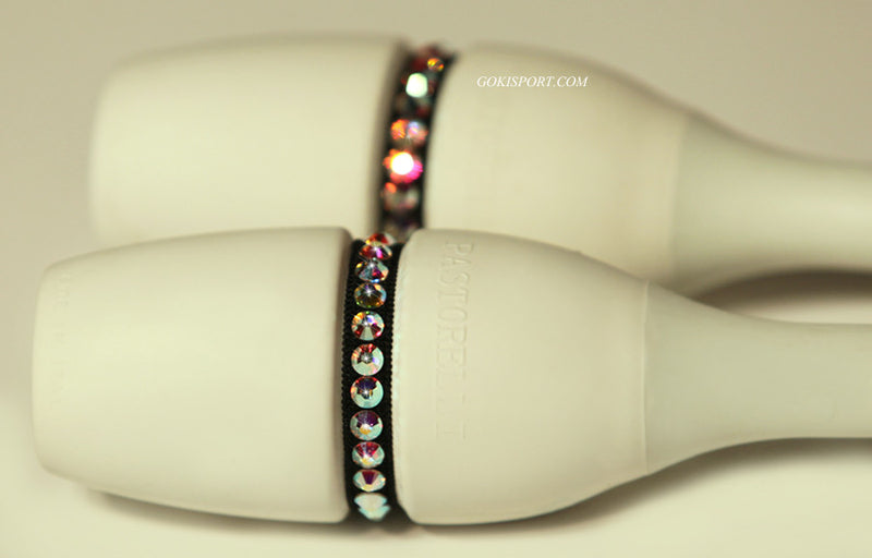 Club Crystals, Black made with Swarovski Crystal AB, Style: GS117