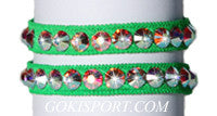 Club Crystals, Fluorescent Green made with Swarovski Crystal AB, Style: GS383