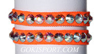 Club Crystals, Fluorescent Orange made with Swarovski Crystal AB, Style: GS389