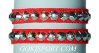 Club Crystals, Fluorescent Red made with Swarovski Crystal AB, Style: GS390