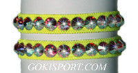 Club Crystals, Fluorescent Yellow made with Swarovski Crystal AB, Style: GS388
