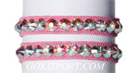 Club Crystals, Pink made with Swarovski Crystal AB, Style: GS386