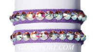 Club Crystals, Purple made with Swarovski Crystal AB, Style: GS387