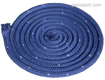 GOKISPORT Cotton Ropes made with SWAROVSKI CRYSTALS, - Blue, Style: GS094